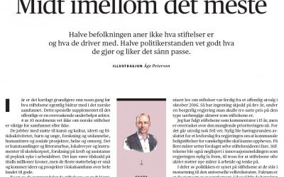 Les Knut Olav Åmås sin kommentar om stiftelser